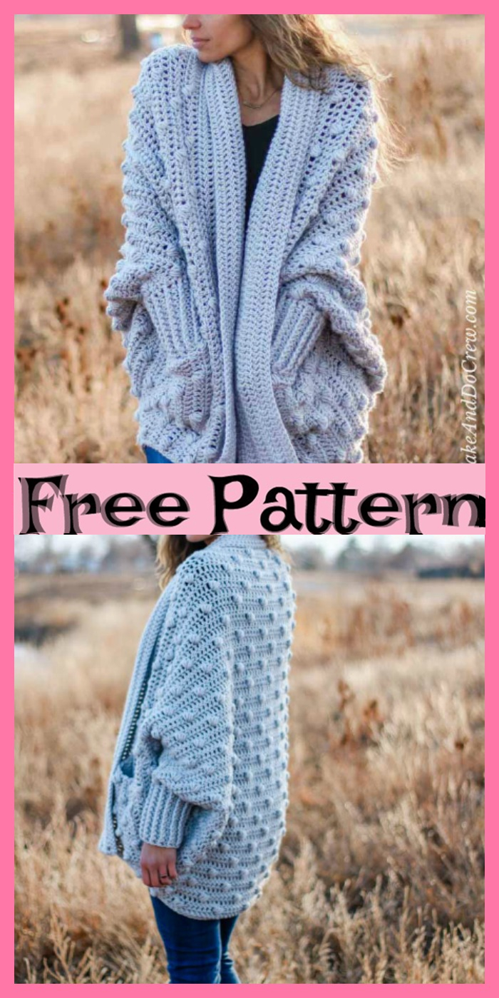 diy4ever-8 Stylish Crochet Cardigan Free Patterns