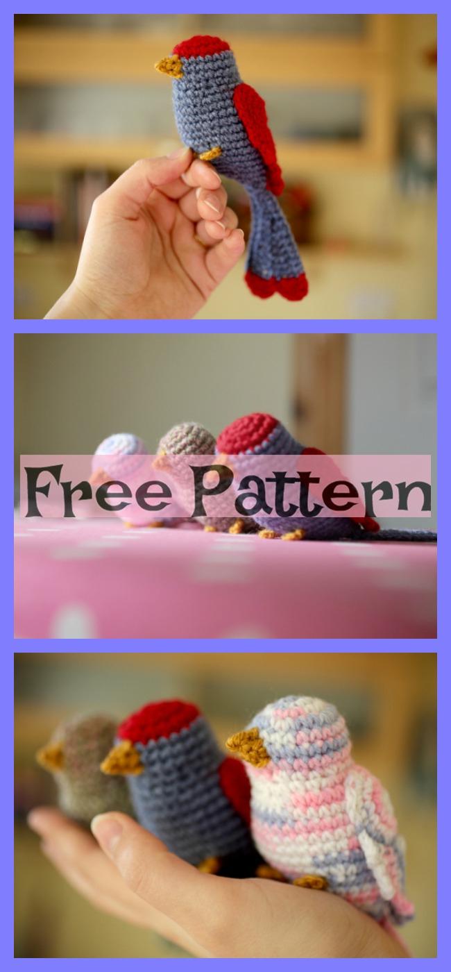 diy4ever-Crochet Bird Sparrow Amigurumi - Free Patterns