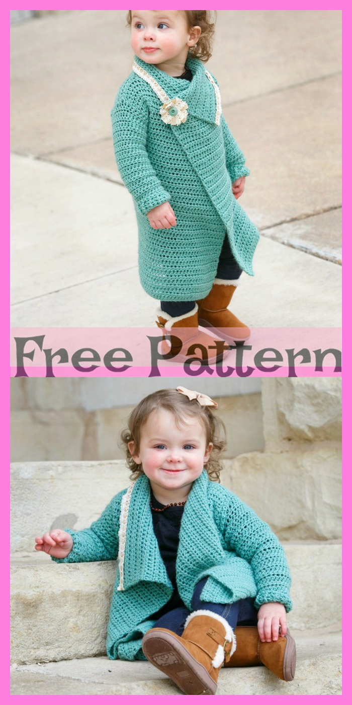 diy4ever-Crochet Blanket Cardigans – Free Patterns