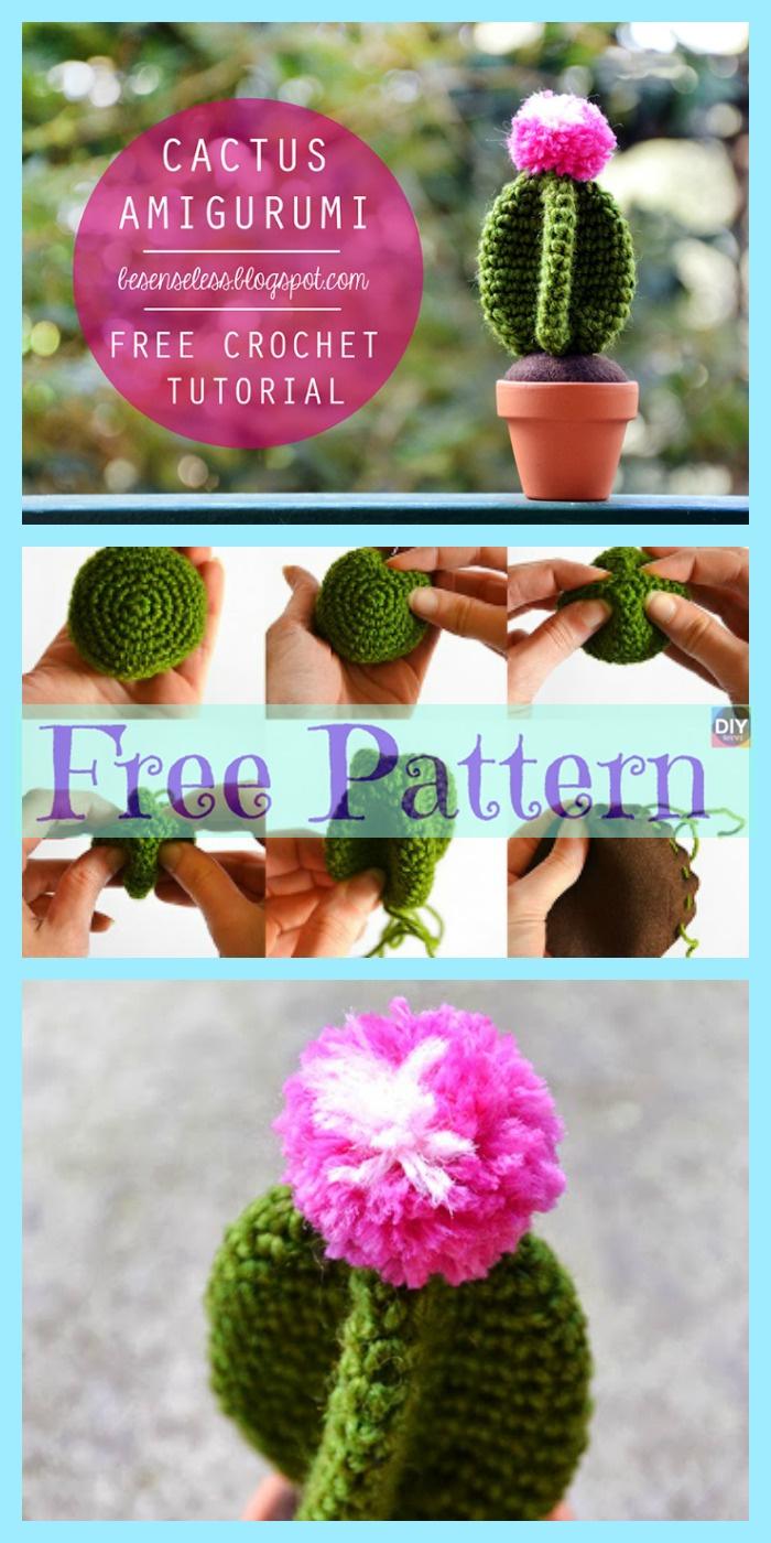 diy4ever-Crochet Cactus Amigurumi- Free Patterns