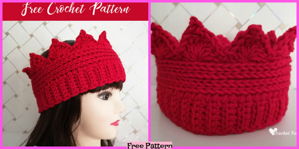 Crochet Crown Ear Warmer Free Pattern Diy 4 Ever
