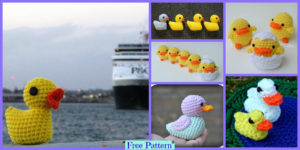 diy4ever-Crochet Duck Amigurumi - Free Patterns