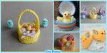 diy4ever-Crochet Easter Baskets - Free Patterns