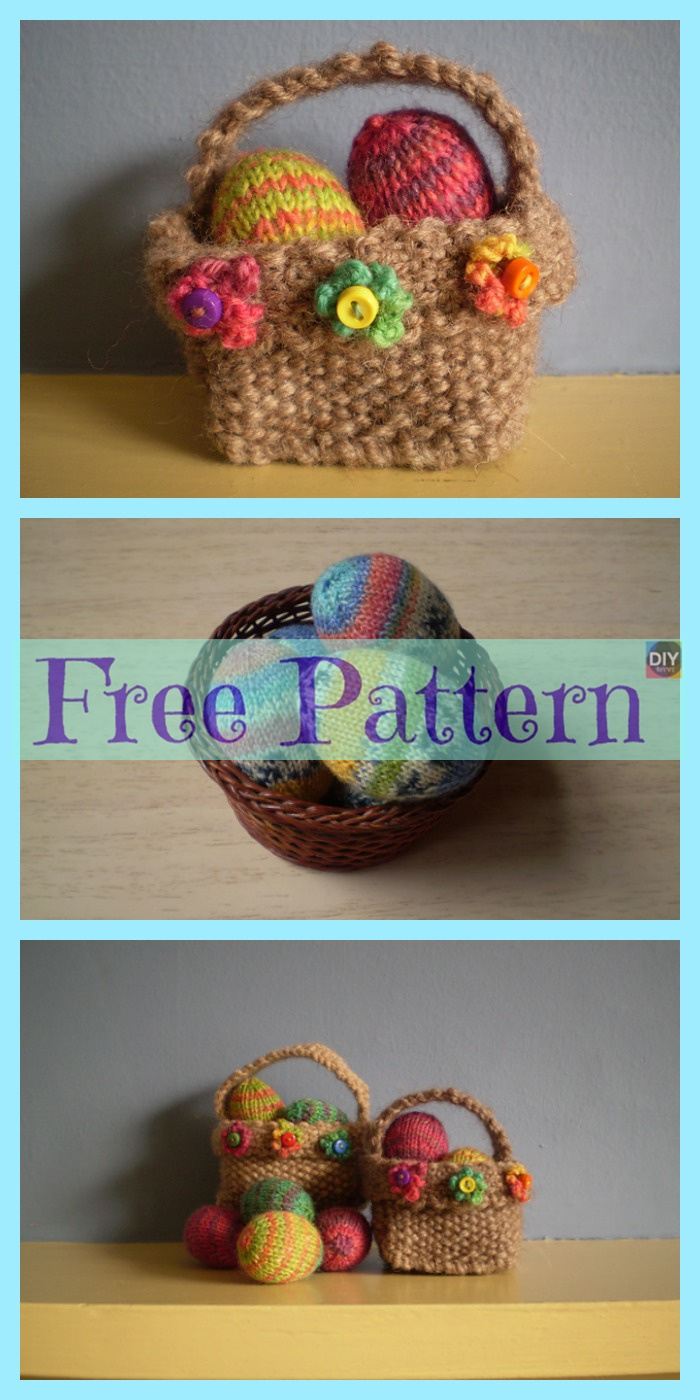 diy4ever-Crochet Easter Baskets - Free Patterns