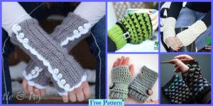diy4ever-Crochet Fingerless Gloves - Free Patterns