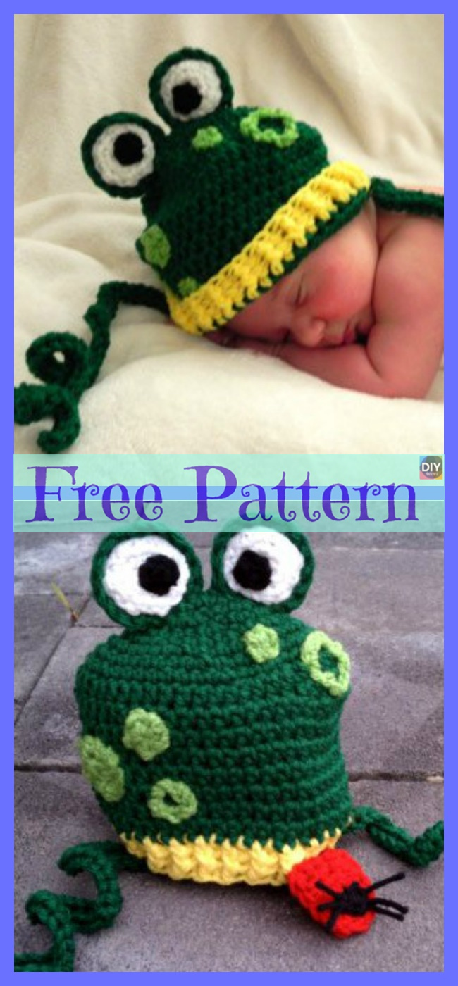 diy4ever-Crochet Funny Hat - Free Patterns