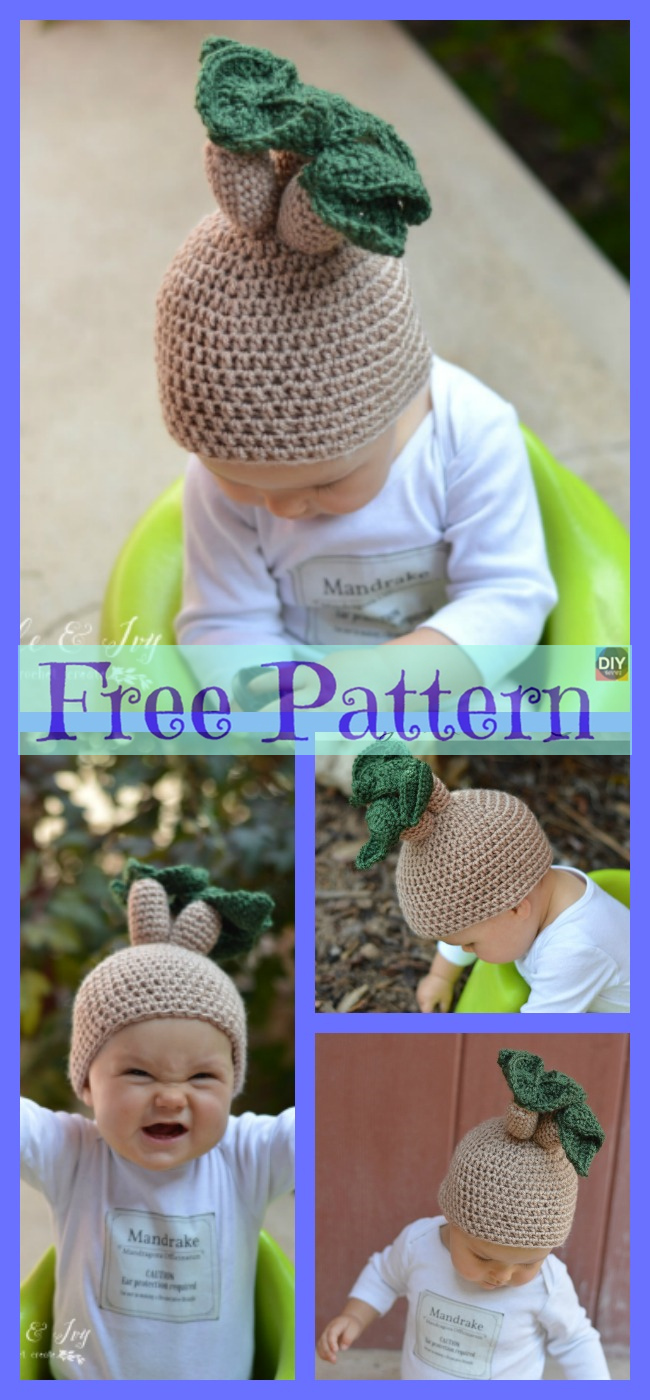 diy4ever-Crochet Funny Hat - Free Patterns