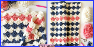 diy4ever-Crochet Harlequin Blanket - Free Pattern
