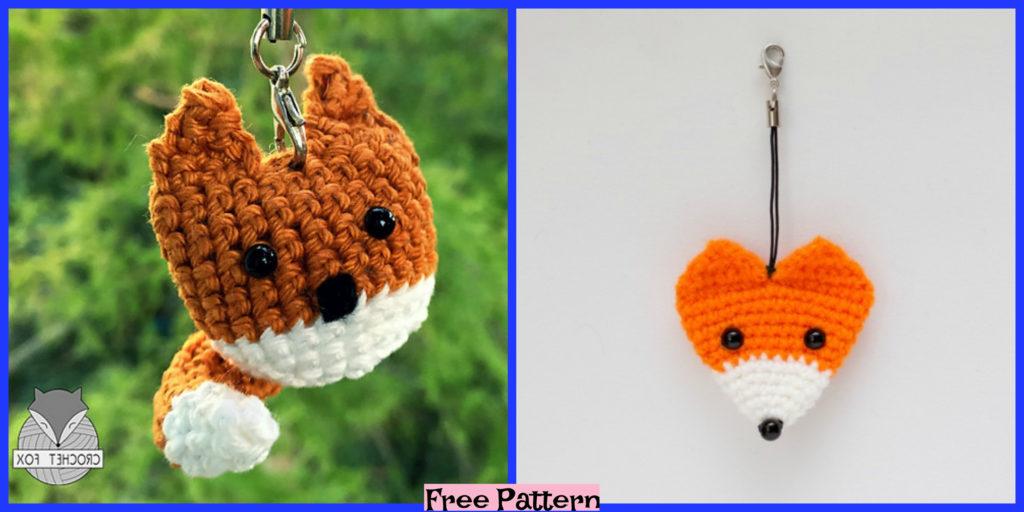 Crochet Keychain Fox Free Pattern Diy 4 Ever