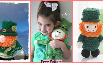 diy4ever-Crochet Leprechaun Cuddle Buddy - Free Pattern