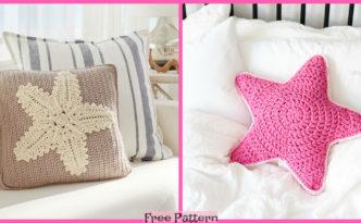 diy4ever- Crochet Starfish Pillow - Free Pattern