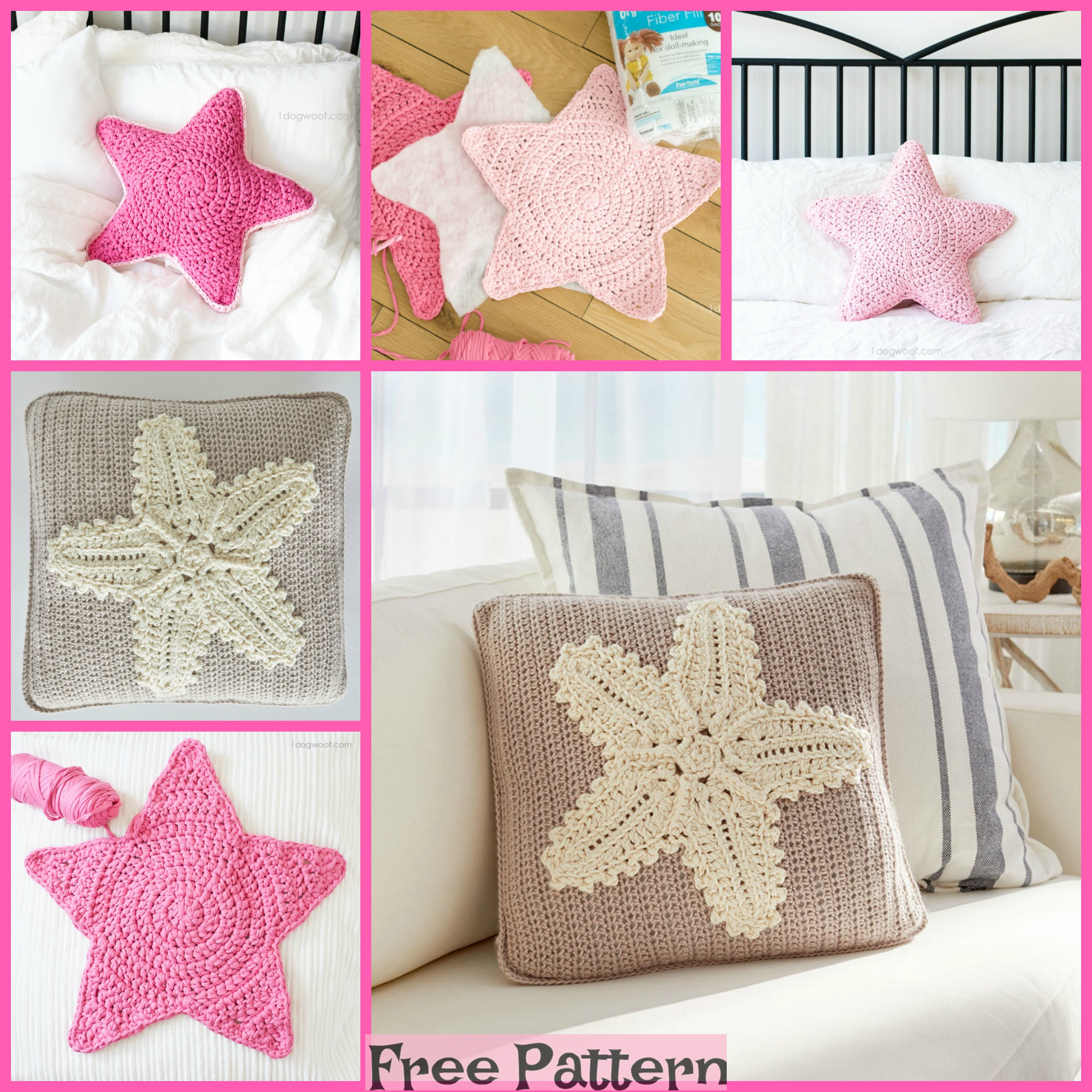 diy4ever- Crochet Starfish Pillow - Free Pattern