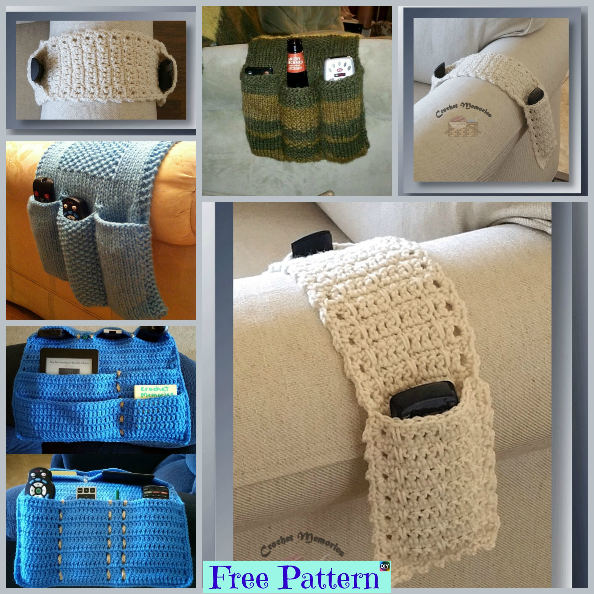 diy4ever-Knit & Crochet Remote Caddy - Free Patterns