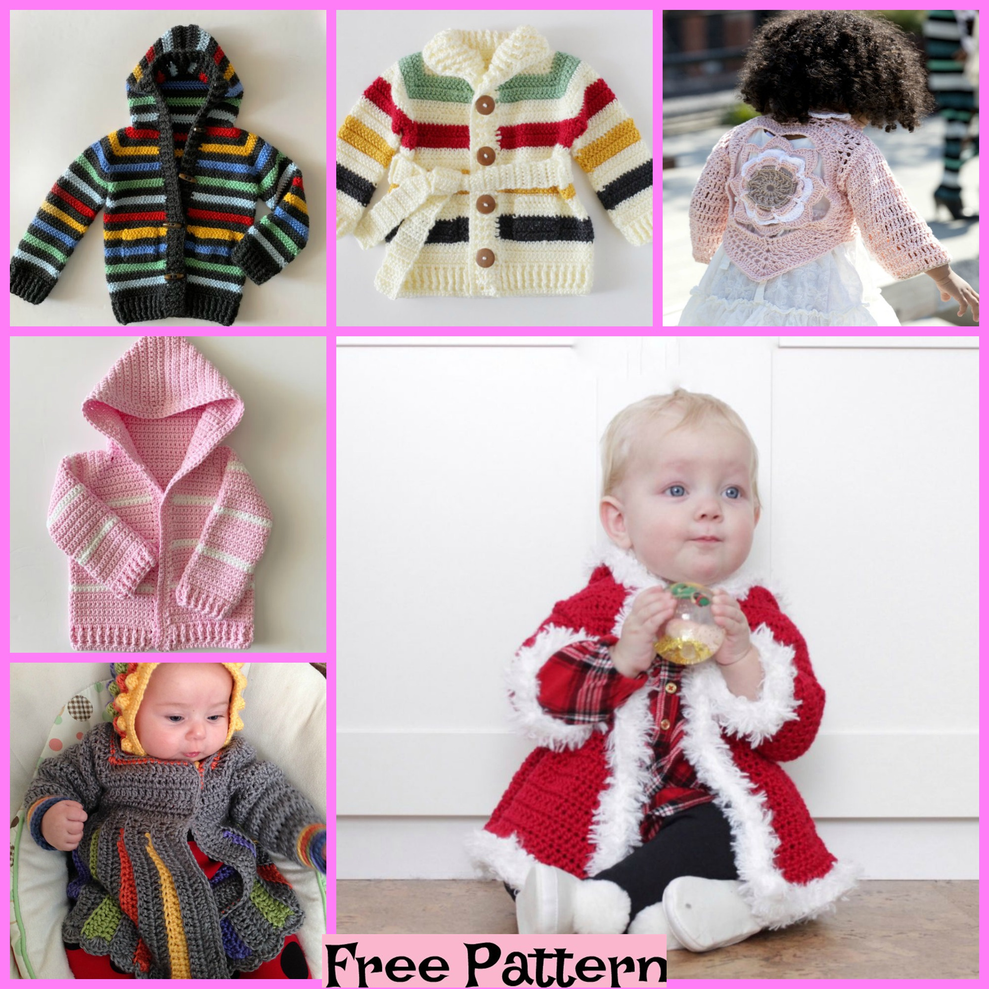 diy4ever-10 Crochet Kids Sweaters - Free Patterns