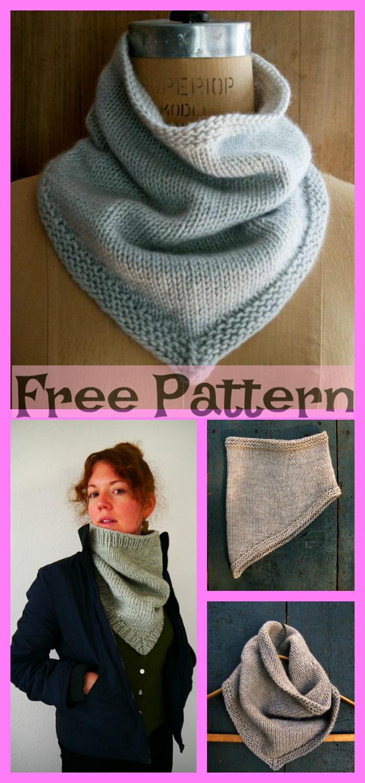 diy4ever-Crochet Bandana Cowl - Free Pattern