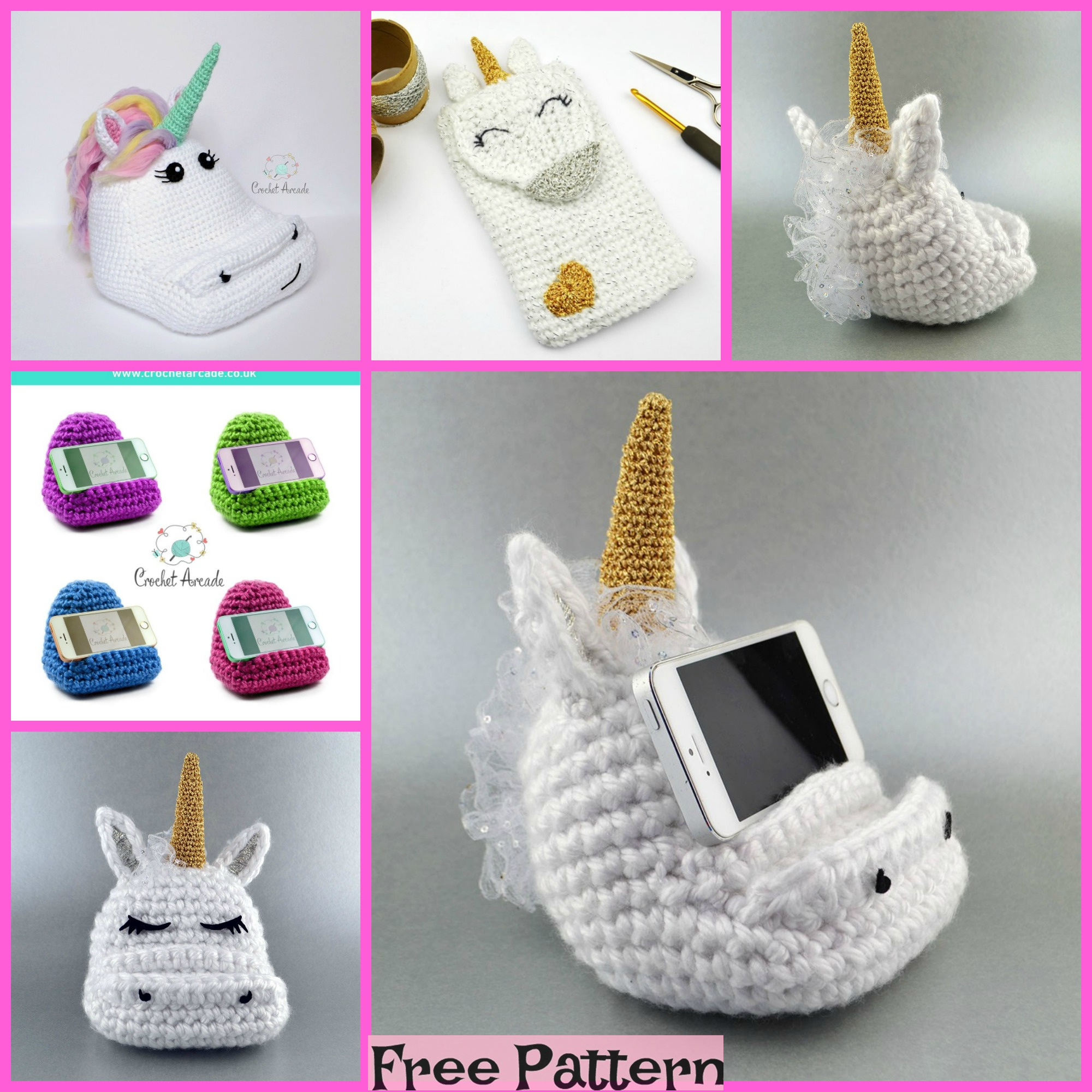 diy4ever-Crochet Cell Phone Holder - Free Pattern