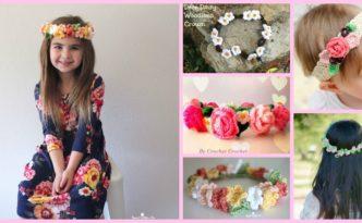 diy4ever-Crochet Flower Crown - Free Patterns