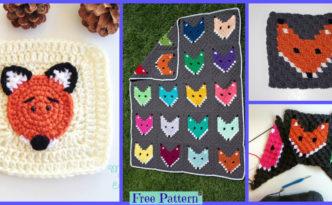 diy4ever-Crochet Fox Granny Square - Free Pattern