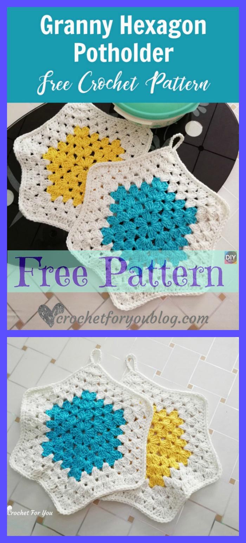 diy4ever-Crochet Hot Pads - Free Patterns
