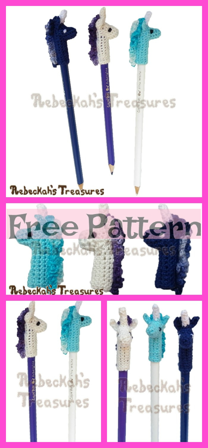 diy4ever-Crochet Pencil Topper – Free Patterns