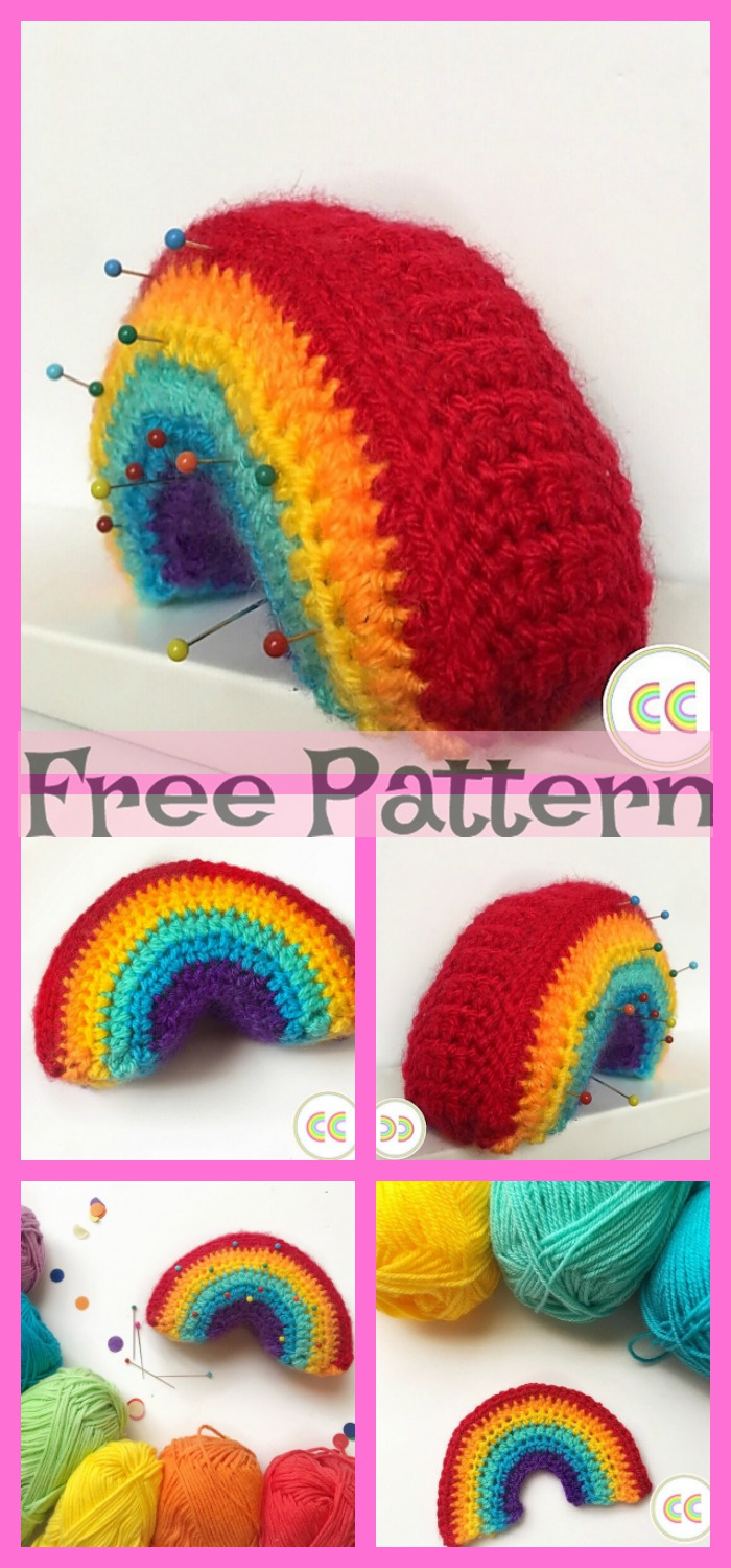 diy4ever-Crochet Rainbow project - Free Pattern