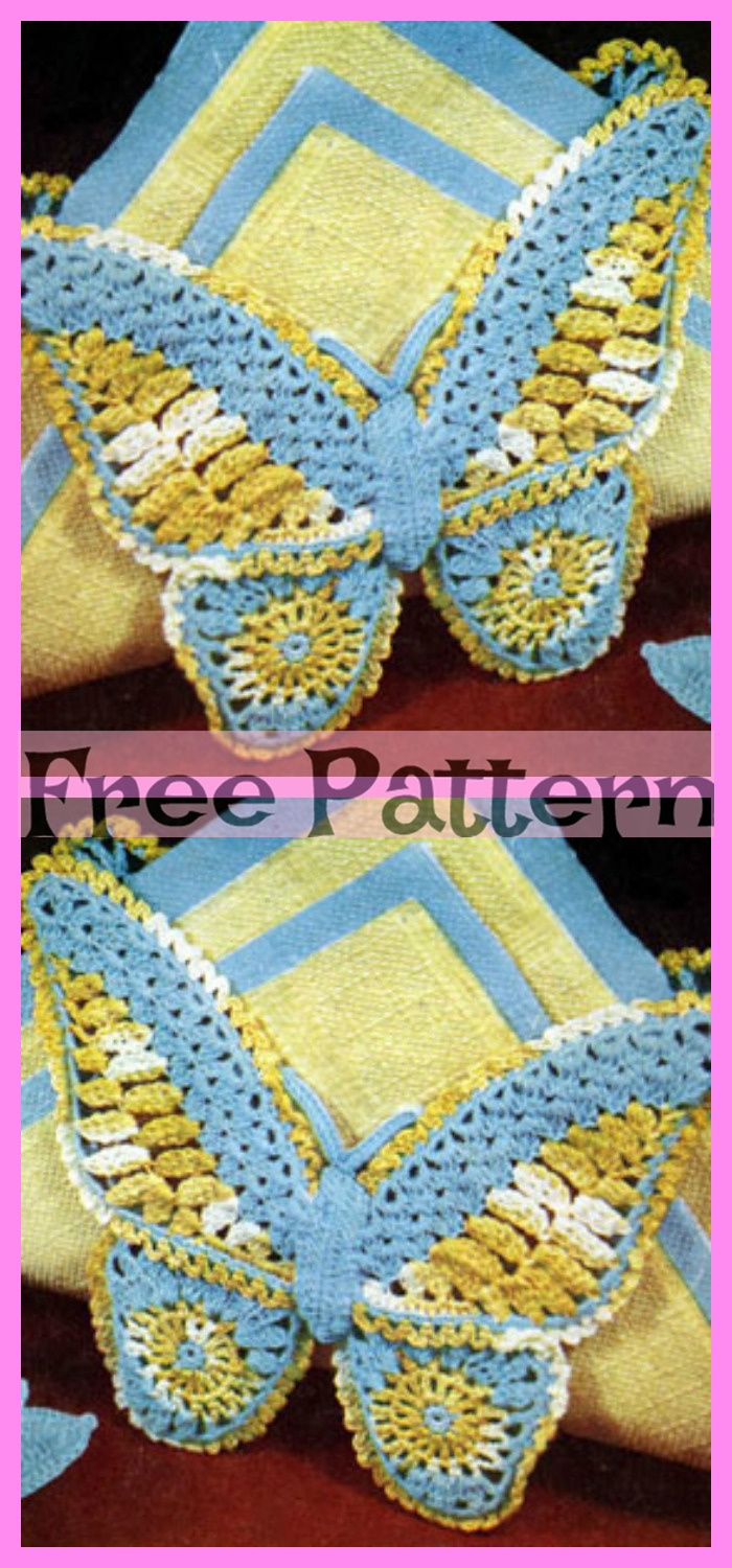 diy4ever-Crochet Sweet Butterfly - Free Pattern
