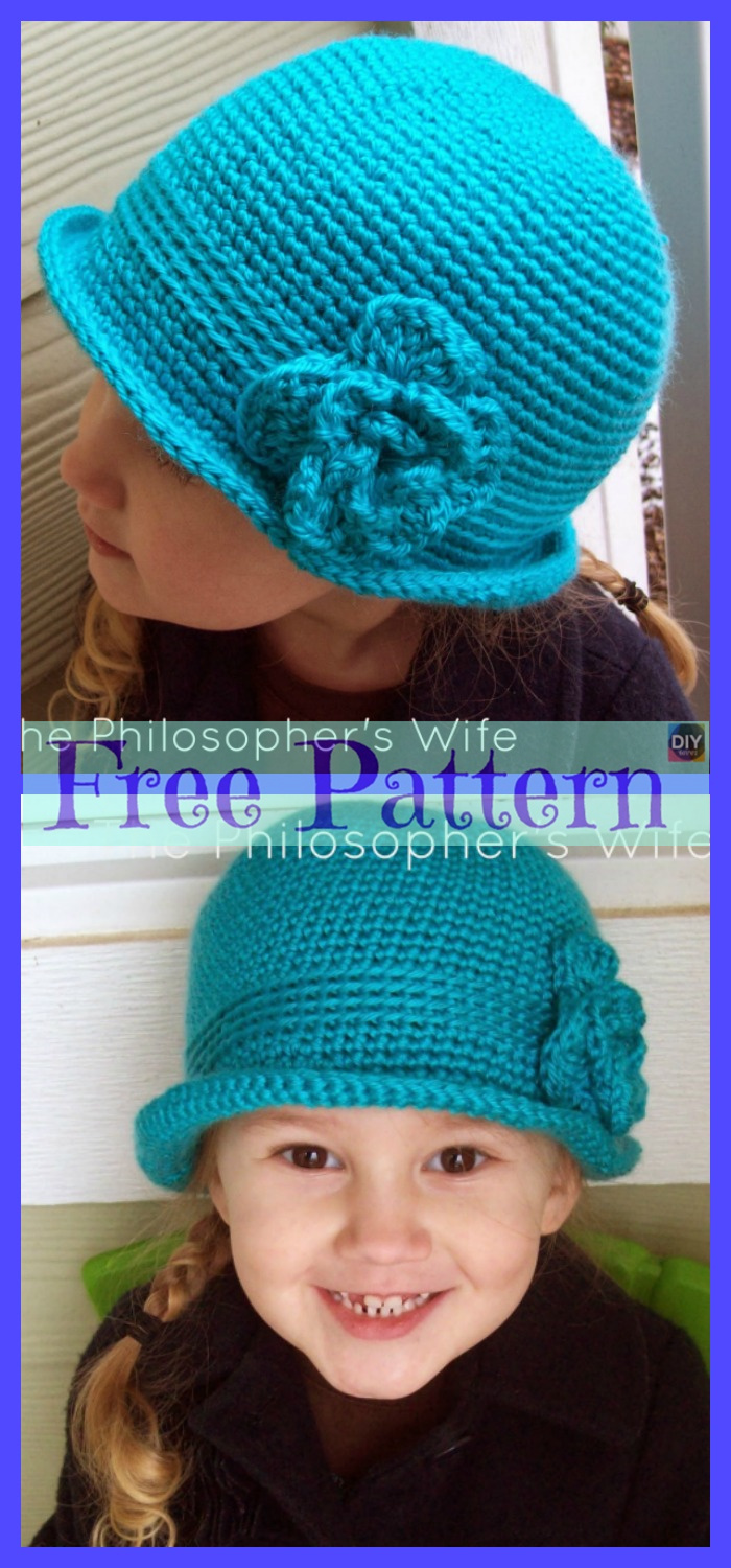 diy4ever-Crochet Sweet Hat - Free Patterns