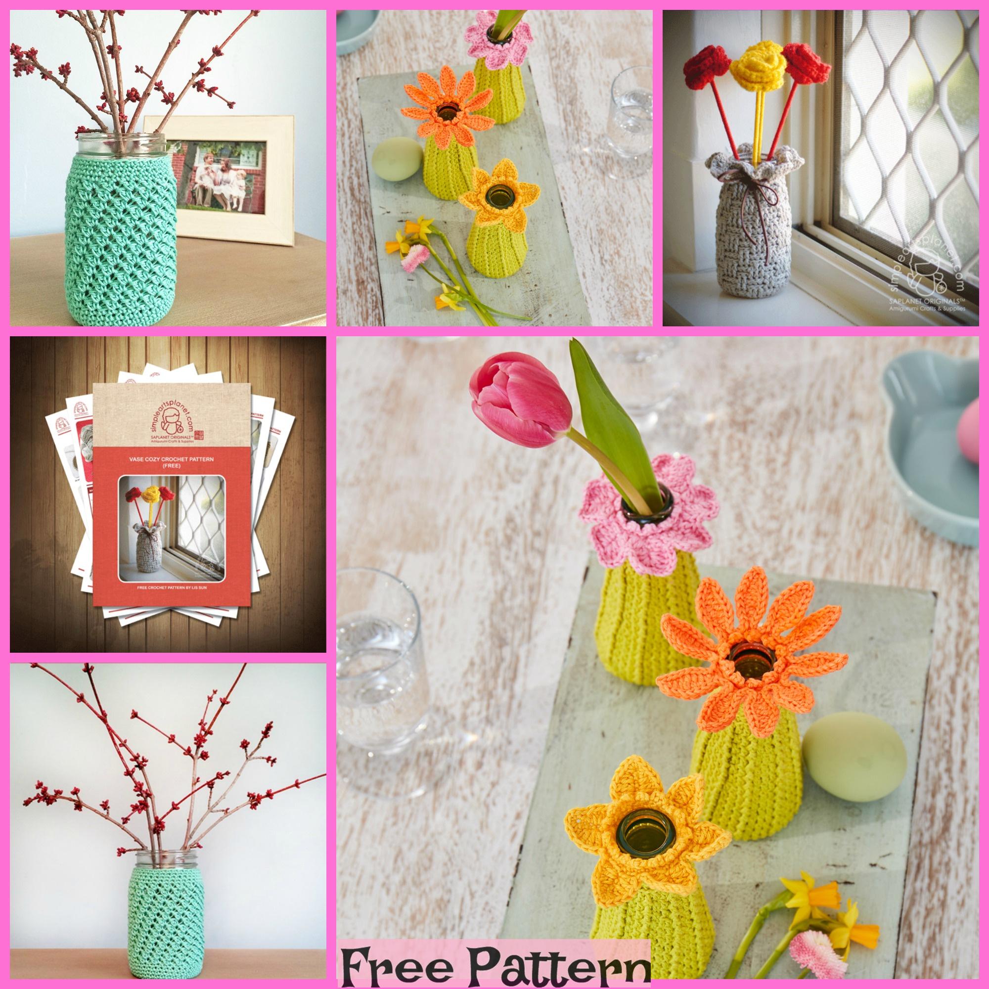 Meadow Flowers Bouquet Crochet In Vase Crochet Flowers Home Decor ... | 2000x2000