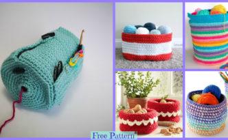 diy4ever-Crochet Yarn Buddy & Basket - Free Patterns