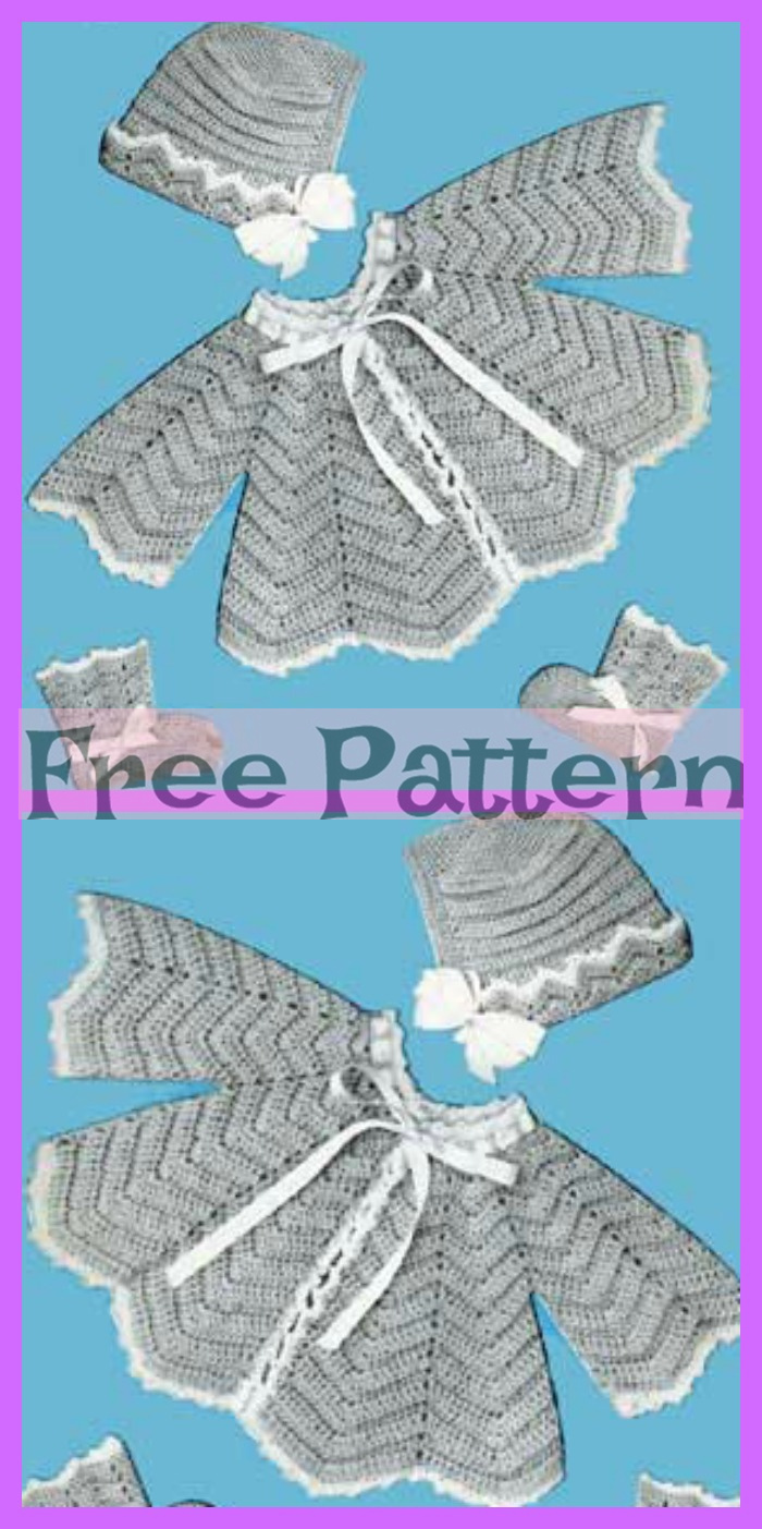 diy4ever-Crochet baby Jacket - Free Patterns