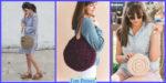 diy4ever-Unique Crochet Circle Bags - Free Patterns