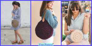 diy4ever-Unique Crochet Circle Bags - Free Patterns
