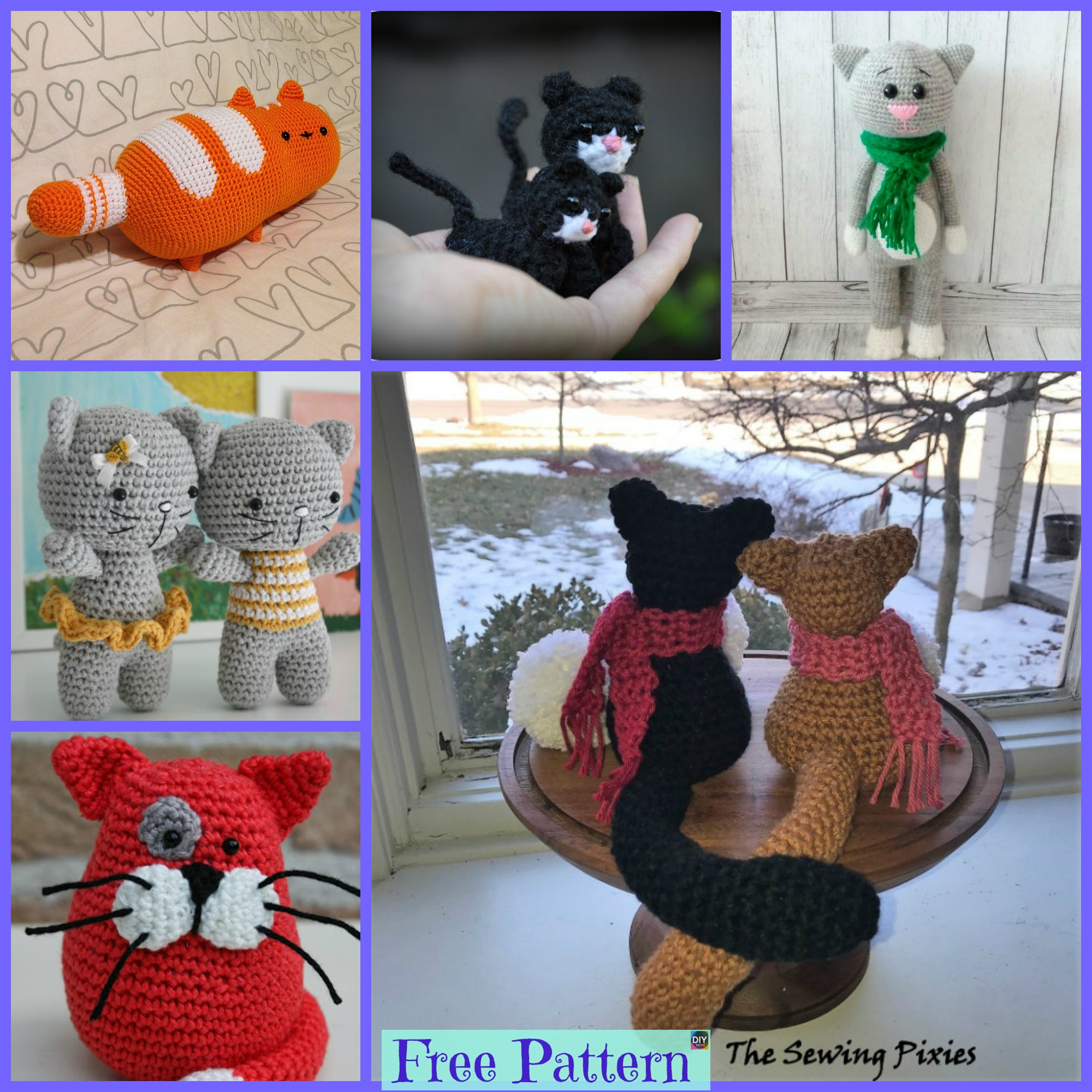 diy4ever-10 Crochet Cats Home Decor Free Patterns