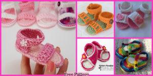 diy4ever-10 Crochet Spring Sandals - Free Patterns