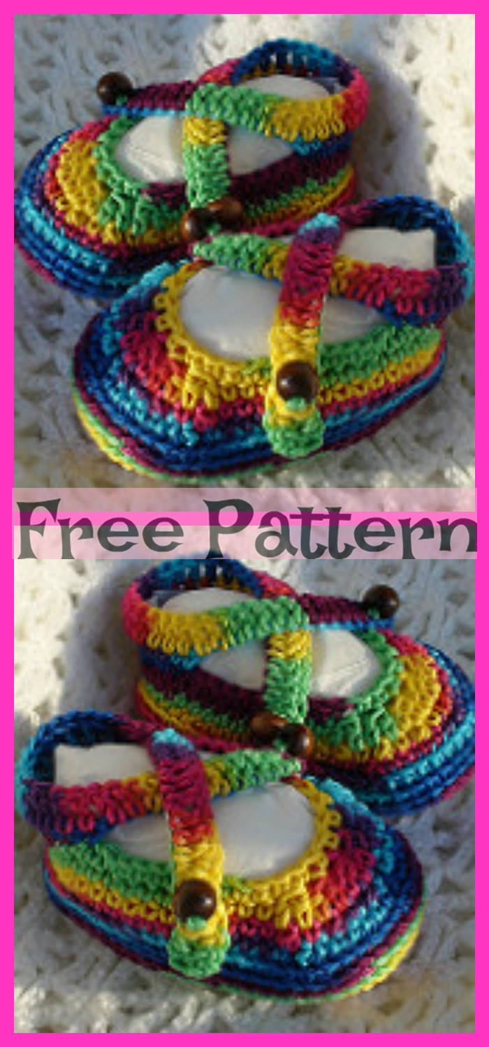 diy4ever-10 Crochet Spring Sandals - Free Patterns