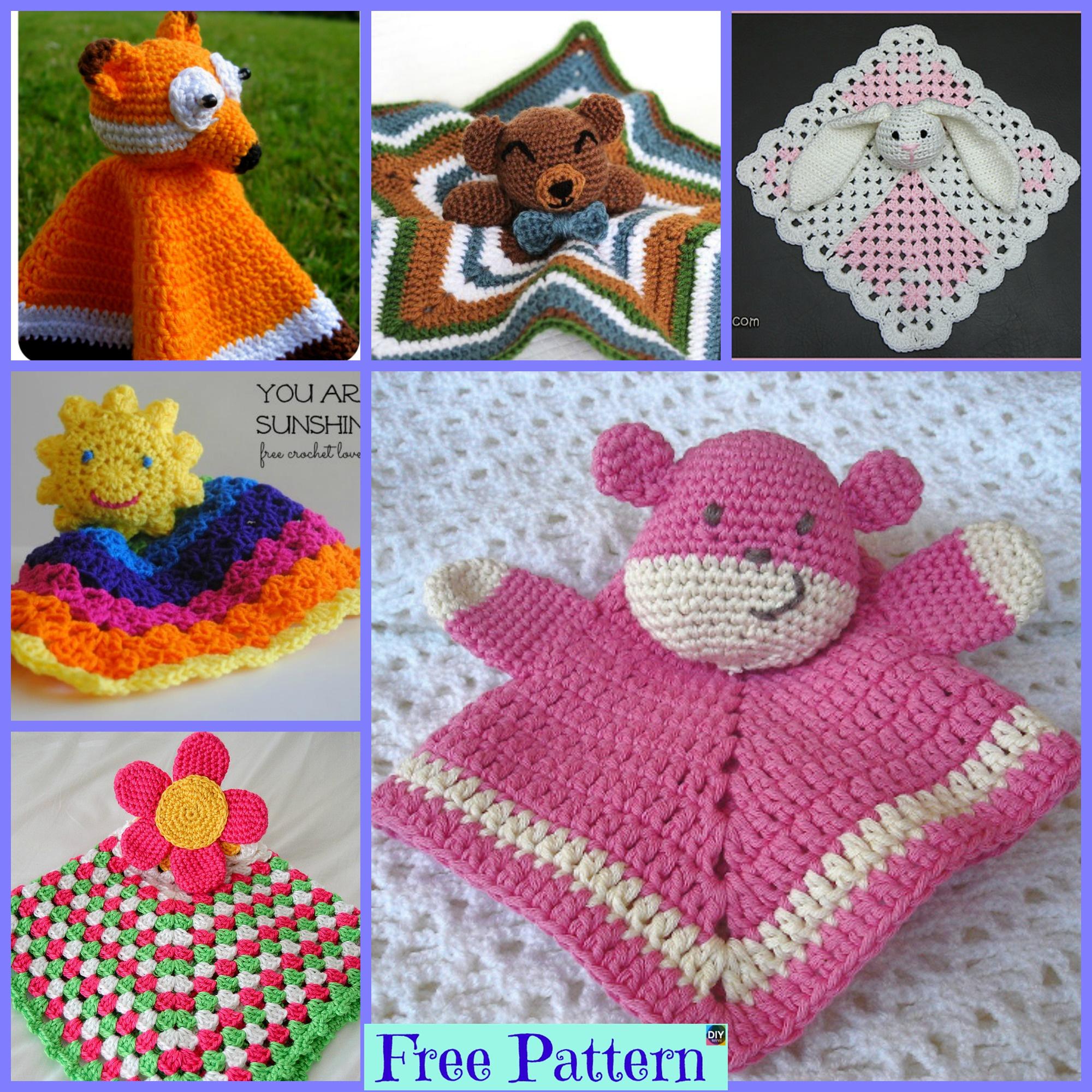 diy4ever-10 Popular Crochet Lovey Free Patterns