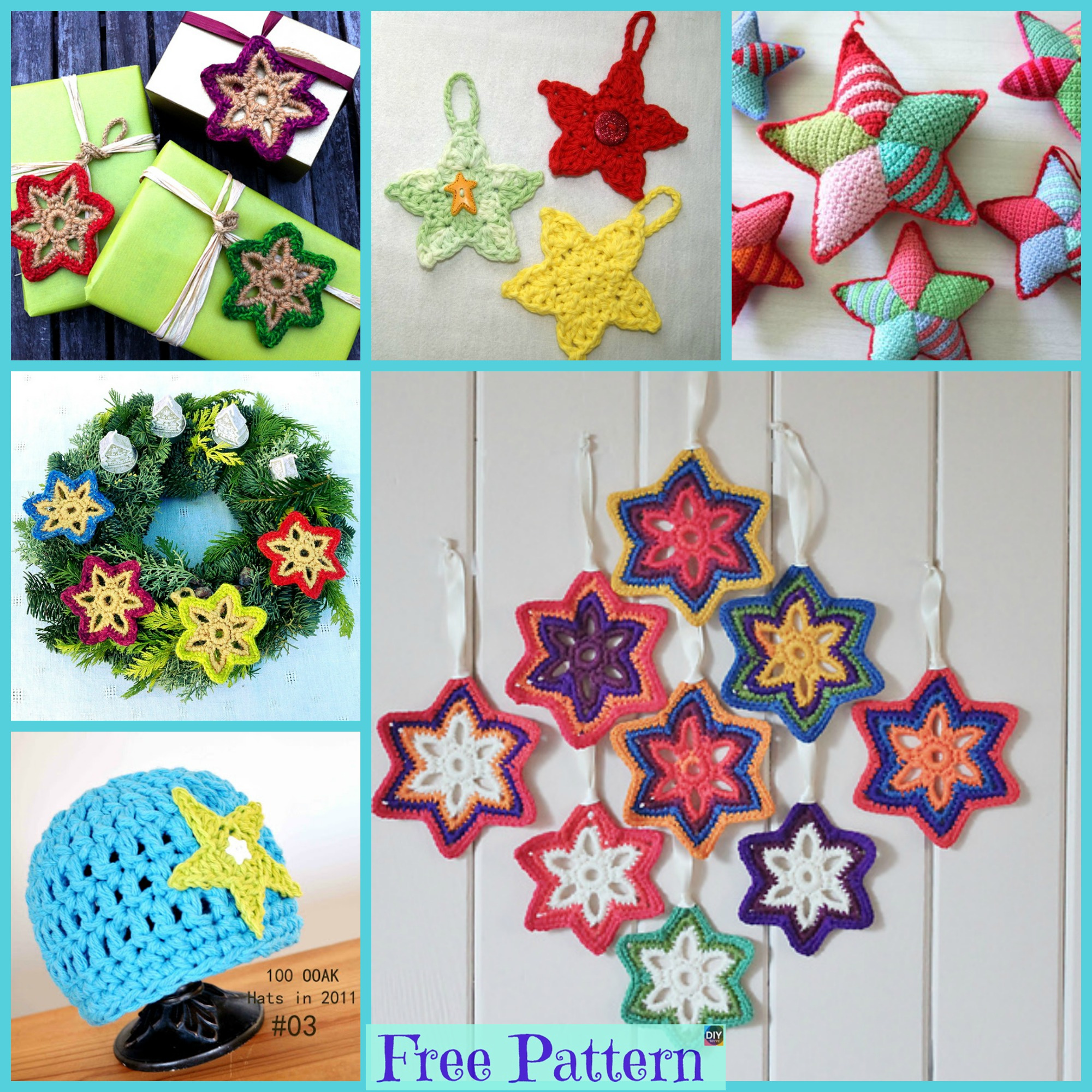 diy4ever-8 Crochet Little Stars - Free Patterns