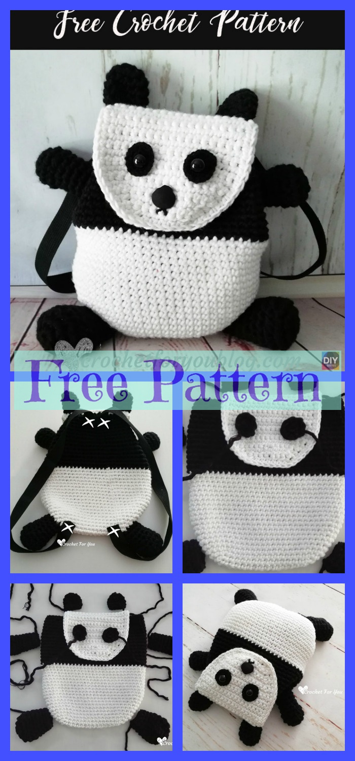 diy4ever-Crochet Backpacks - Free Patterns