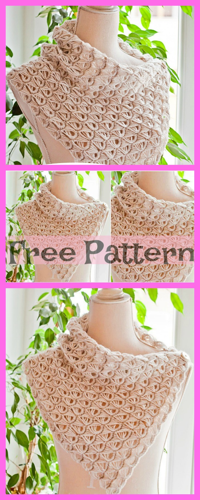 diy4ever-Crochet Broomstick Lace Cowl - Free Patterns