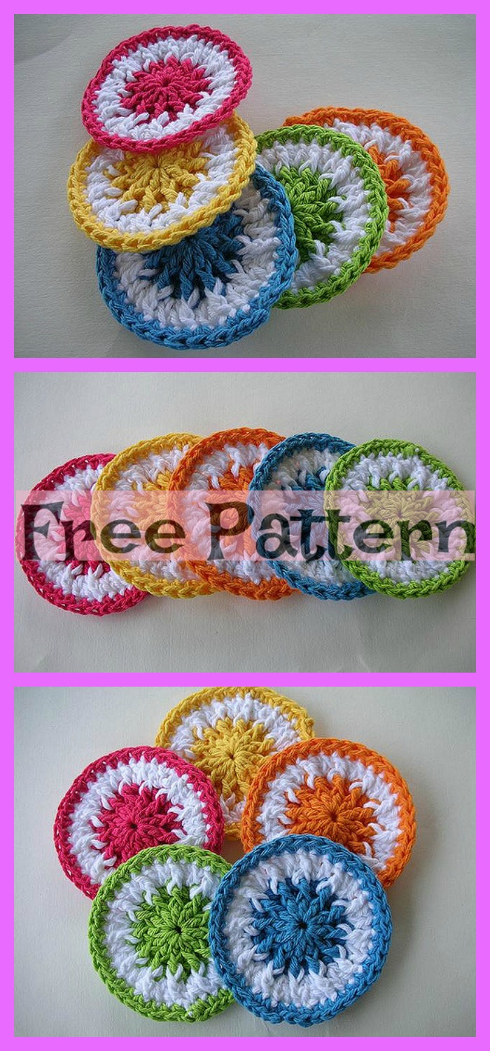 diy4ever-Crochet Dish Scrubbies - Free Patterns