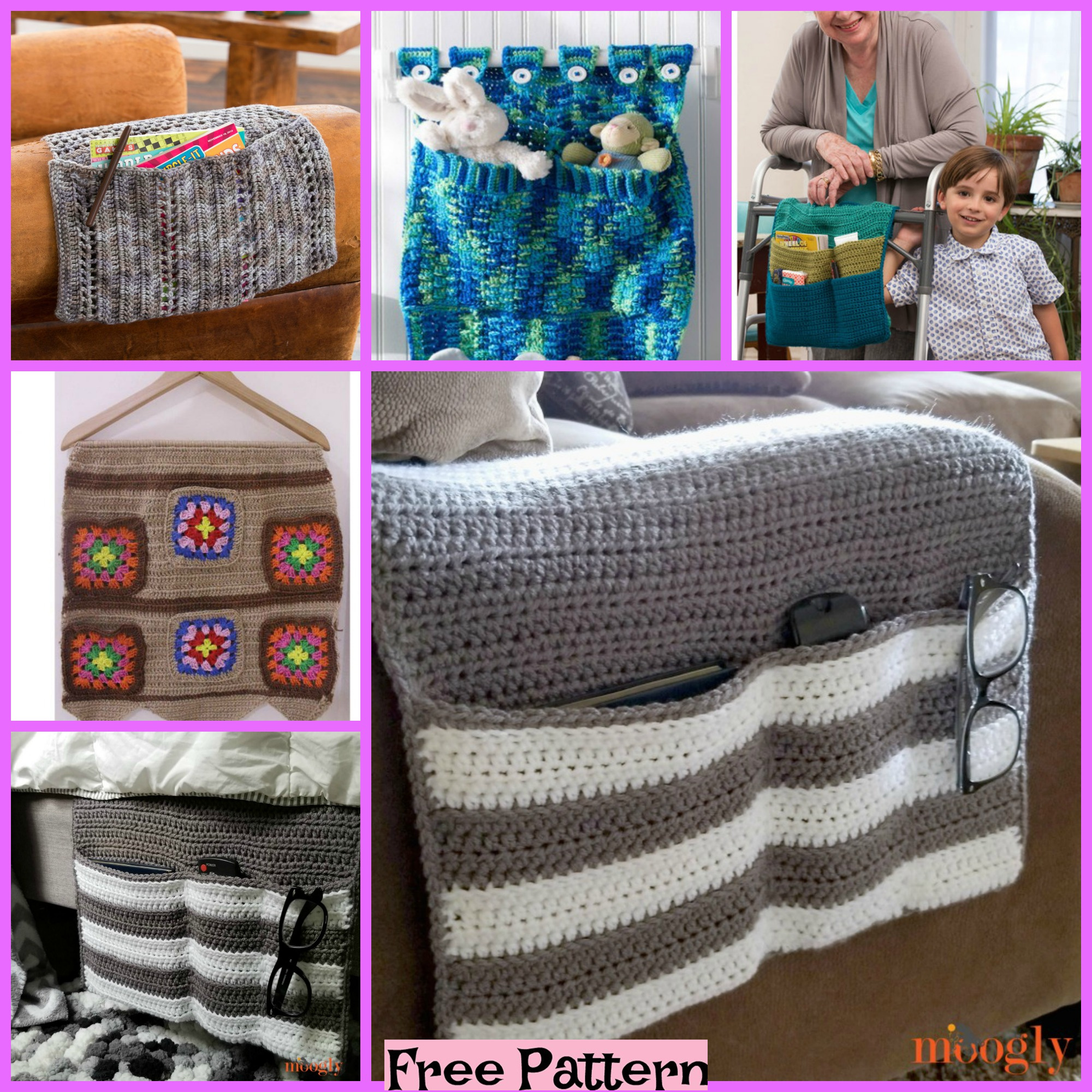 diy4ever- Crochet Home Organizers - Free Patterns