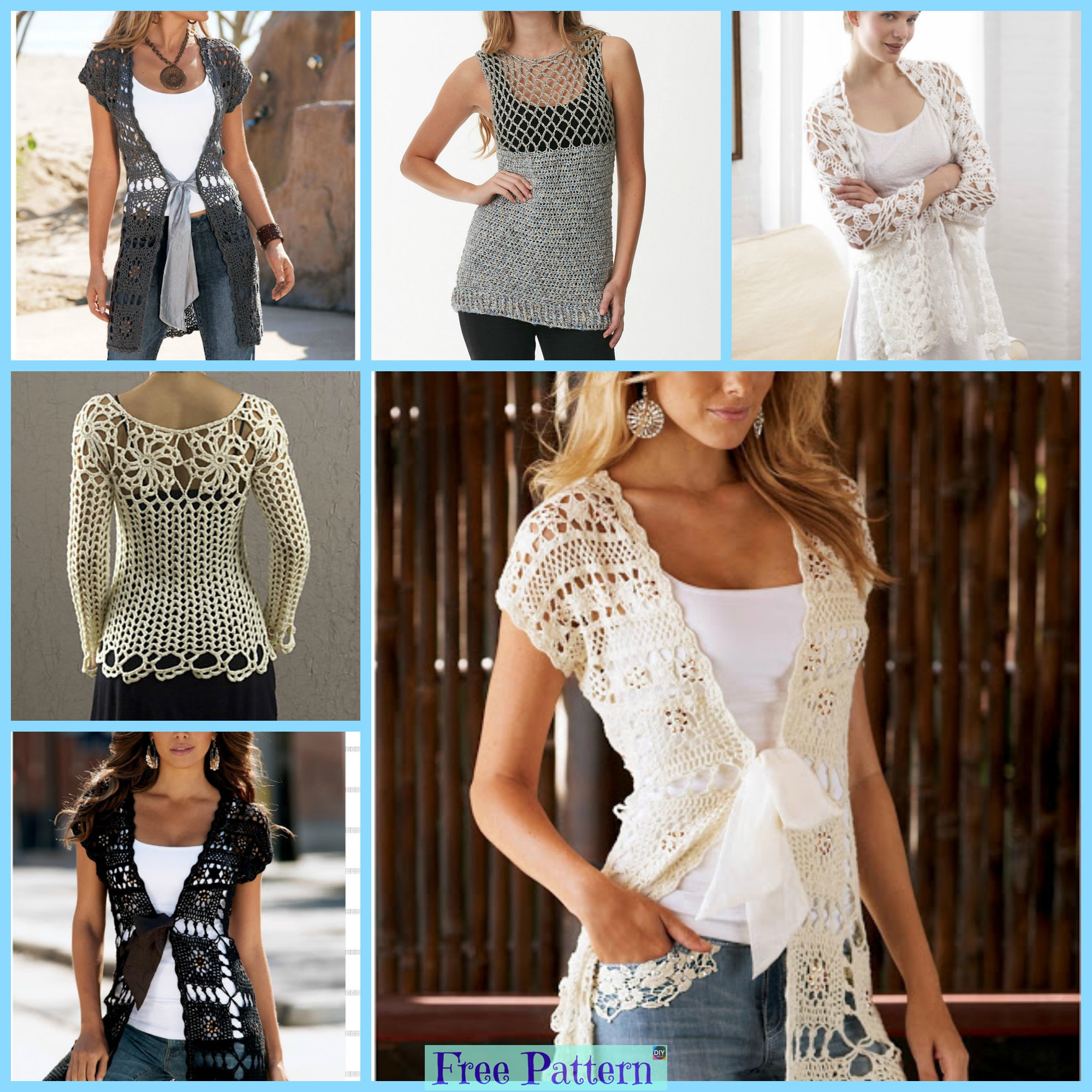 Crochet Lace Summer Tops Free Patterns Diy 4 Ever
