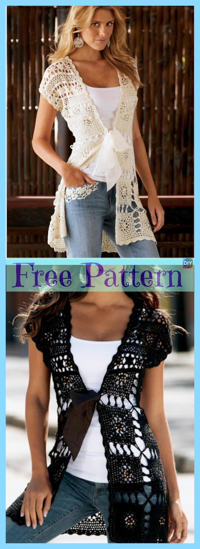 diy4ever-Crochet Lace Summer Tops - Free Patterns