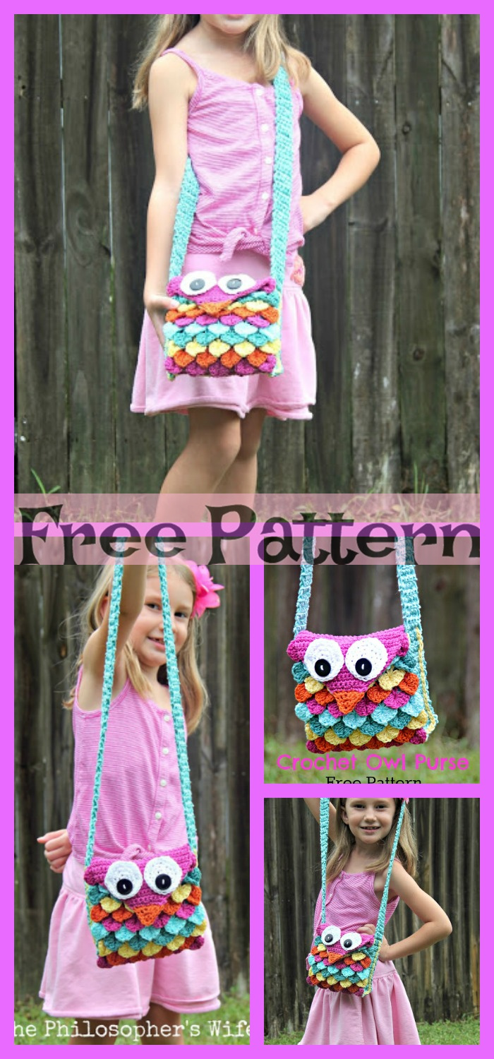 diy4ever- Crochet Owl Purse Free Pattern