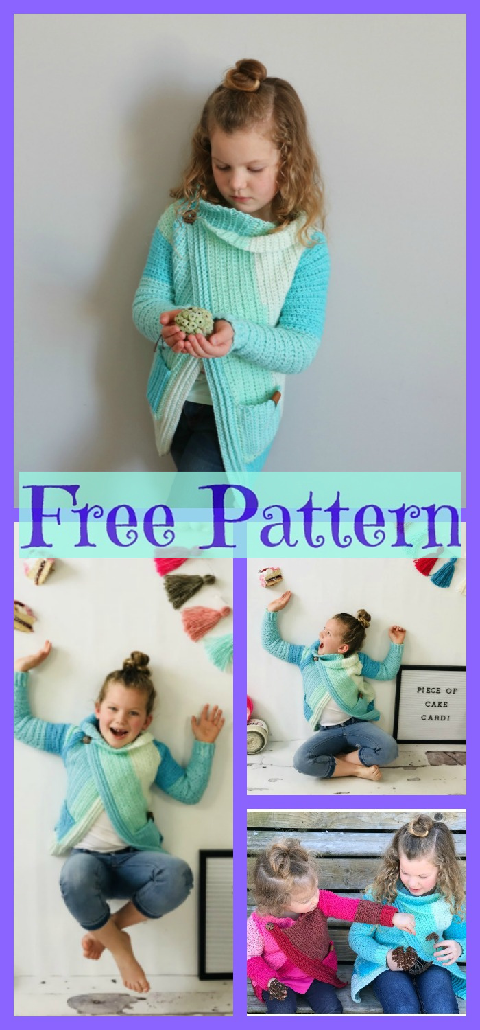diy4ever-Crochet Piece of Cake Cardi - Free Pattern