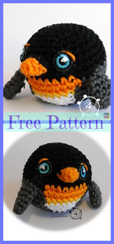 diy4ever-Crochet Pingu Penguin - Free Patterns