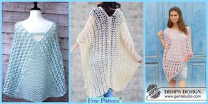 diy4ever- Crochet Summer Poncho Free Patterns