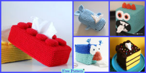 diy4ever-8 Crochet Tissue Box Cover Free Patterns