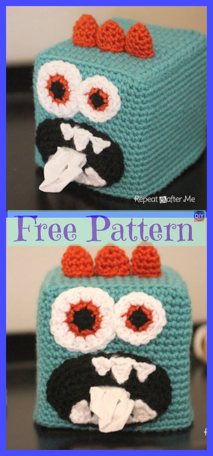 8 Crochet Tissue Box Cover Free Patterns Diy 4 Ever