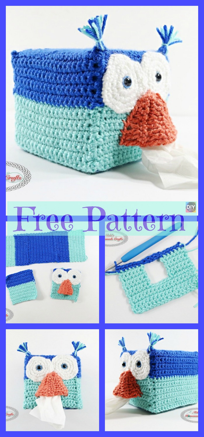 diy4ever-8 Crochet Tissue Box Cover Free Patterns